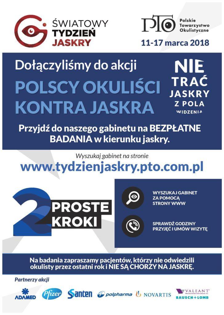 plakat page 001 1 728x1024 - Światowy Tydzień Jaskry w Poradniach Okulistycznych PRYZMAT!